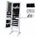NEW Mirrored Jewelry Cabinet Mirror Organizer Armoire Storage Box Necklace Ring Supplier&Factory&Seller&Distributor