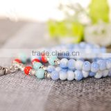 mixed color - 108 Prayer Beads Bracelet Porcelain Buddhist Vintage Style Meditation Mala Beads