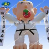 Giant inflatable taekwondo man cartoon toys for sale