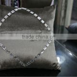 Custom made jewelry hand embroidery velvet designs for velvet cushion