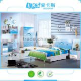 queen size wooden bed bedroom set China popular bedroom furniture 8356