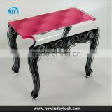 High Quality traditonal palace rectangular Clear acrylic folding table