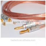 2.5 SQ mm OFC Audio Cable terminated with 24K Gold plated 4mm Banana Plugs