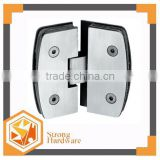 SH-135C Camber 135 degree double pieces adjustable Stainless steel glass balustrade fitting 6mm-12mm toughened galss door hinge