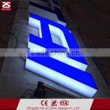 wall mounted led acrylic full lit illuminated alphabet channel letter signs