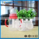 2016 Hot sale 120ml baby feeding water bottle , Screw Mouth beer plastic baby bottle