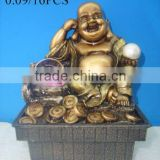 Resin buddha indoor table water fountain for home decoration