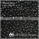 High Quality Fashion JS Glass Seed Beads - 49# 13/0 Opague Black Rocailles Beads For Garment & Jewelry