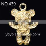 new design alloy panda pendant plated glod pendant key chain part bag pendant without pearl and rhinestone embellished -359
