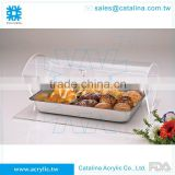 Taiwan Manufacturer High Quality Acrylic Buffet Supplies Buffet Equipment Food Case Bread Display