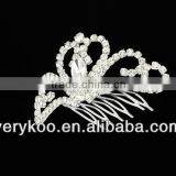 Rhinestone crystal beauty small pageant crowns & tiaras, fashion jewelry hair accessories JS-00089