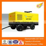LGCY-KAISHAN 35bar trailer mounted diesel screw air compressor for mining, air compressor screw