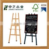 Trade assurance high quality custom portable easel folding tripod artist wooden painting stand