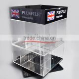 clear acrylic storage box/ acrylic book display stand/pop display