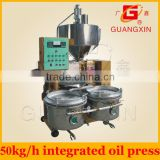 hot selling tung seed oil press price oil machine with fryer and filter