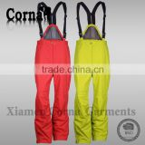 China manufacturers men colorful snowboard with elastic belt warm-keeping ski jogging pants