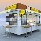 griddle van mobile with full size trailer for coffee machine / cart for food steaming buns