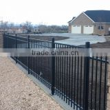 High quality & best price galvanized steel picket fence,pained zinc steel fence panel,square tube fence