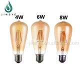 Vintage UL 6W ST64 filament light led bulb e27