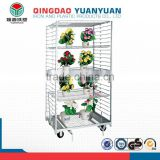 Top quality iron storage rack, metal industrial storage racks, flower pot plant stand