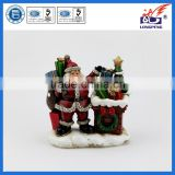 Polyresin Santa Claus Figurine with Gifts for Christmas