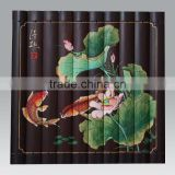 carved bamboo wall hanging painting