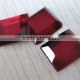 Glass rectangle flat back mirror stone loose beads for garments accessories; bags accessory decoration;shoes