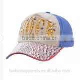 Custom 100% Polyester Printed Rock Contrast Color Baseball cap 5 Panels