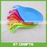 Silicone Spoon Rest Holder Set - Kitchen Heat Resistant FDA Approved and BPA Free 4 Pieces Spoon Rest