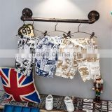 Child clothes children clothing newspaper french script fabric beach pants kids shorts