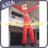 26' Multi Color Christmas 2 legged air dancer with logo for promotion
