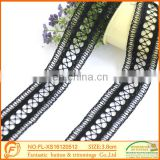 New Fashion Water Soluble Black lace For Garment Fabric Lace Triming