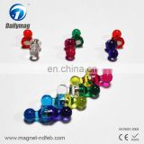 Multicolored Plastic Small Push Pins