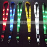 Fashion Safty and Eco-friendly Christmas Flashlight LED Lanyard with Reel Badge/Pull Reel