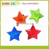 2015 promotion plastic star shaped led flashing safety light