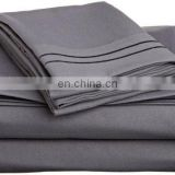 100% polyester microfiber fitted sheet sets solid color queen size