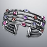 925 Sterling Silver DY Inspired Five Row Berry Confetti Bracelet for Women