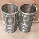 Stainless SS Filter Steel Wedge Johnson Wire Screen , Deep Well Water Pipes
