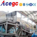 Rock mine Gold tailings separating machine unit equipment with 4 reamers trommel screen and gold concentrator