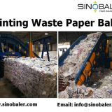 Printing Waste Paper Baler Machine