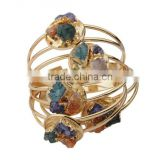 China Wholesaler Three Color Crystal Copper Gold Bracelet for Women Accessories