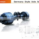 China supplier German style inboard drum axles for semi trailer