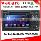Wecaro Android 4.4.4 car dvd player 2 din for audi a4 multimedia system car stereo 16GB Flash 2002-2008