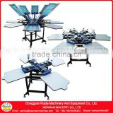Floor model Double rotary 2012 M model of 4 color/ 6 color/ 8 color screen printing press