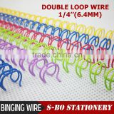 Twin ring wire for book binding