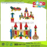School Child Colorful Wooden Building Gig Blocks Play Set