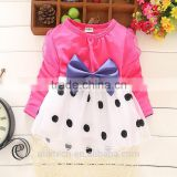 black polka dot manufacture long sleeve skirts baby dresses