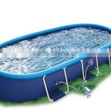 steel frame pool above ground swimming pool