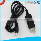 5V dc step up 12V power supply cable dc/dc boost converter with USB power bank or computer input