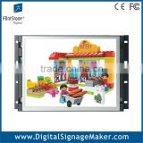 Flexible indoor 15 inch 1080P HD open frame LCD digital signage/advertising monitor/display